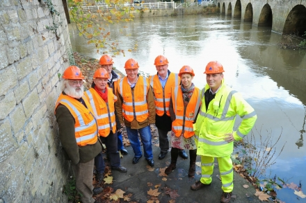 Community Emergency Volunteers next to the river in Bradford on Avon