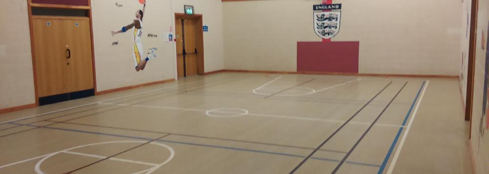Empty sports hall at Bradford on Avon Youth and Community Centre