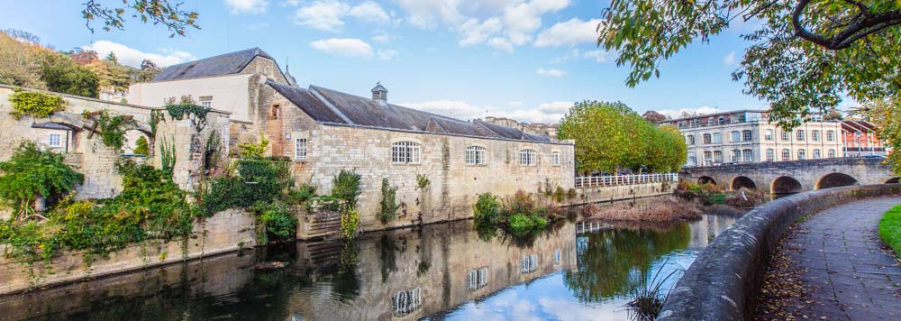 The Bull Pit, seen across the river at Bradford on Avon